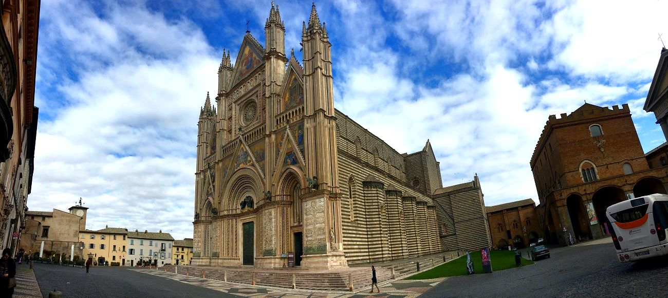 orvieto cathedral on the way to naples or florence