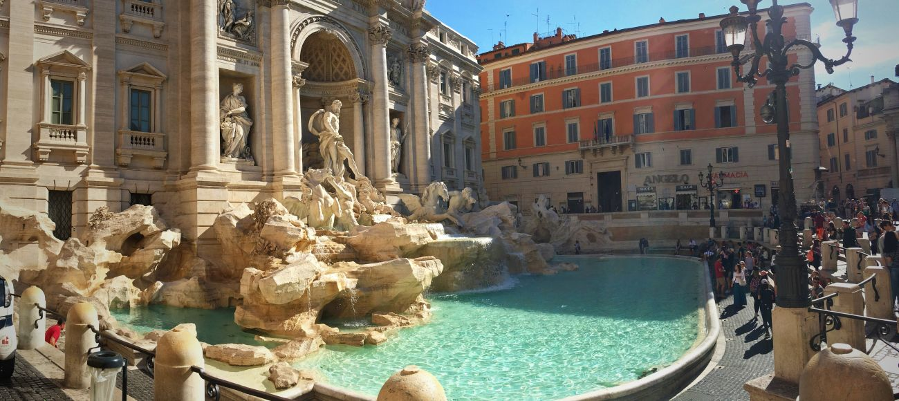 Trevi fontain in Rome during your Ancient Rome Private Tour
